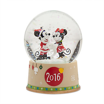 Disney Store Share the Magic Mickey & Minnie Snowglobe Holiday 2016 New with Box