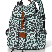 Mint Blue Leopard VS Backpack