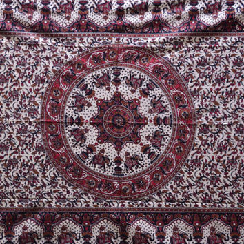 Elephant Tapestry, Mandala Tapestry, Throw, Bohemian, Bedspread, Tapestry, Picnic Blanket, Hippie Tapestry, Wall Hanging, Home Decor - ES#1
