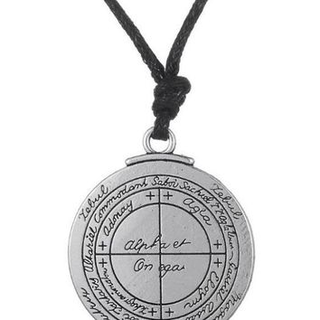 Dawapara Supernatural Talisman for Good Luck Pentacle Pendant Necklaces Pagan Wiccan Jewelry Vintage Amulet for Men