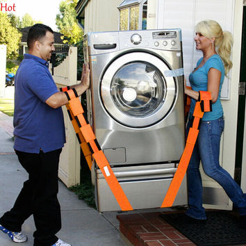 Moving Straps Forearm Delivery Transport Rope Belt Home Carry Furnishings Easier Wardrobe Heavy Bulky Furniture Carry Tools Orange SV028032
