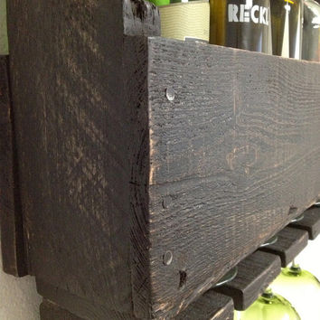 Reclaimed Wood Wine Rack - Made From Recycled Pallets