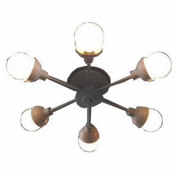 6 light northern euro modern concise creative bedroom balcony industrial ceiling lamp light