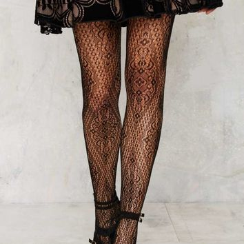 Look From London Like a Diamond Tights