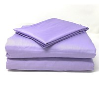 Tache Cotton Lavender Dreams Bed sheet (Flat Sheet)