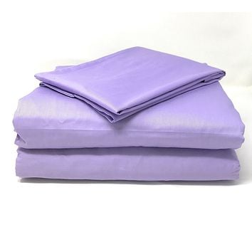Tache Cotton Lavender Dreams Bed Sheet (Fitted Sheet) (BS3PC-PP)