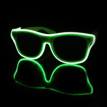 EL Wire Light Up Sunglasses : LED Wire Glasses from RaveReady