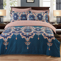 3pcs Bohemian Style No Fading Polyester Bedding Pillowcases Quilt Cover Set