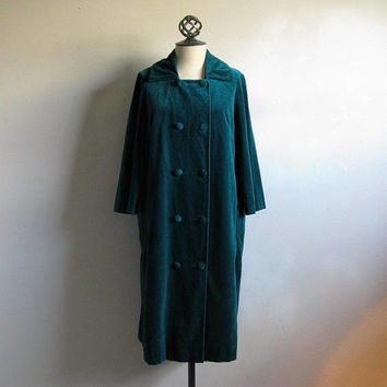 80s Green Velvet Jacket Vintage Light 1980s Evening Coat Medium Made in Italy