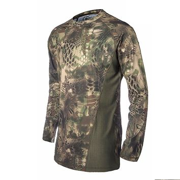 Military Tactical Hunting T Shirt Camping Hiking Wild Survival Clothing Airsoft Outdoor Sports Gear