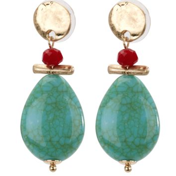 Turquoise Drop Earrings on Gold