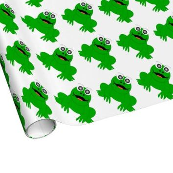 Frog Wrapping Paper from Zazzle.com
