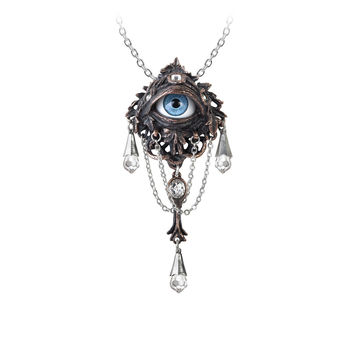 Alchemy Gothic Natural Magic: The Lore of The Forrest Eye Pendant Necklace