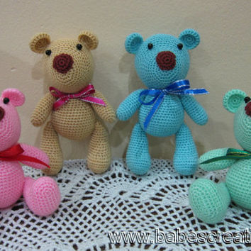 Colorful Bear Amigurumi Pattern, Instant Download!
