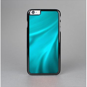 The Turquoise Blue Highlighted Fabric Skin-Sert for the Apple iPhone 6 Plus Skin-Sert Case