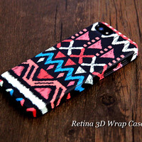 Native American Design 3D-Wrap iPhone 5S Case iPhone 5 Case iPhone 5C Case iPhone 4S Case iPhone 4 Case