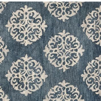 Empire Scroll Rug - Indigo
