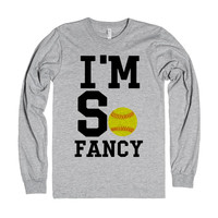 I'M So Fancy Softball Tank Top Tee T Shirt