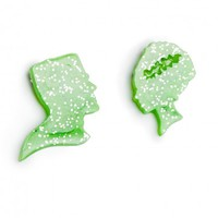Frankenstein's Monster and Bride Brooch Set
