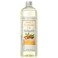 Sweet Almond Oil, Cold Pressed, 100% Pure for Skin, Hair, Nails, Massage and Carrier Oil for...
