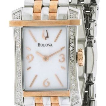 Bulova Diamond Accent Two-Tone Watch 98R186