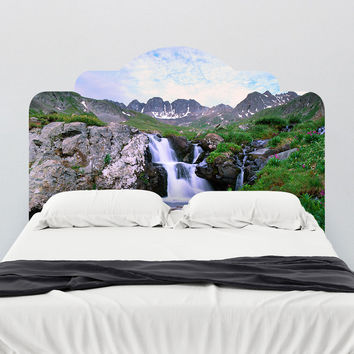 Paul Moore's Waterfall In The American Basin Headboard wall decal