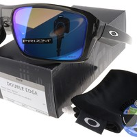Oakley Double Edge Sunglasses OO9380-0666 Grey Smoke | Prizm Sapphire Polarized