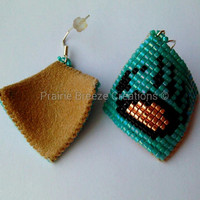 Turquoise Gold Black Curved Style Bear Claws