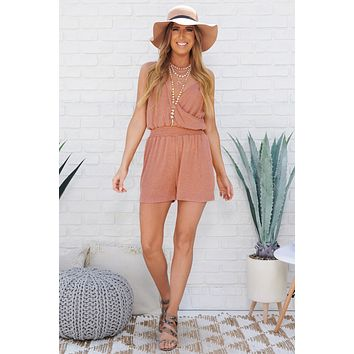 Delicate Touch Romper (Rust)