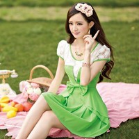 tourtown — Fresh green chiffon dress