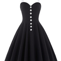 Belle Poque 2017 Women Dress Robe Sexy Halter Retro Vintage Black Red Summer Dress Tunic Casual 50s 60s Rockabilly Party Dresses
