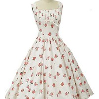 50s Floral Dresses-Jerry Gilden 1950s Vintage Garden Party Dress