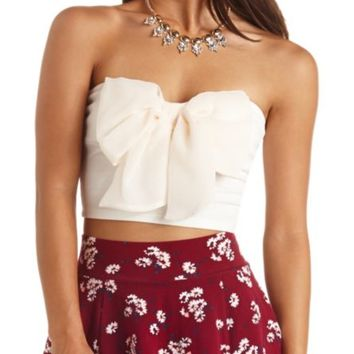 0a22c9e1a91 BOW-FRONT CROPPED TUBE TOP from Charlotte Russe