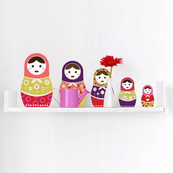Russian Dolls Wall Sticker Set