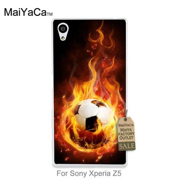 MaiYaCa Luxury High-end phone Accessories Hunger Games Quotes fire football For case sony z5