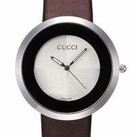 GUCCI Hot Sale Vintage Fashion Classic Watch Round Ladies Women Men wristwatch On Sales(With Thanksgiving&Christmas Gift) Coffee