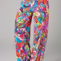 Trina Turk Fiji Flower Pants - Multi - M