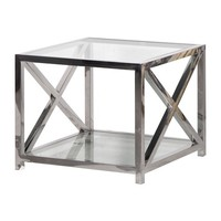 Square Glass Side Table | Coffee Tables | Living Room | Modern Contemporary Furniture