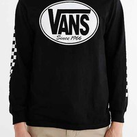 Vans Oval Logo Long-Sleeve Tee- Black