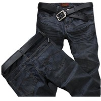 Classic 2016 High Quality Men's Stretch Jeans Cotton Denim Jeans Casual Straight Washed Pants Fashion Jeans men Size:28~42