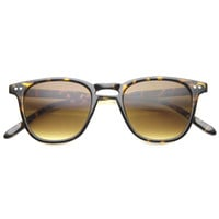 Dapper Horned Rim Thin Frame Sunglasses 9994
