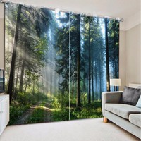 NoEnName_Null Blackout Curtains For Living Room Bedroom Wedding room Window Curtains Natural scenery Photo 3D Curtains CL-DLM727