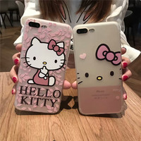 New Cute Hello Kitty Soft Cover Phone Case iPhone