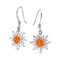 Bling Jewelry Solar Ember Earrings