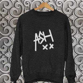ashton irwin sweater Black Sweatshirt Crewneck Men or Women Unisex Size