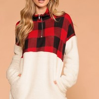 Jane Sherpa Plaid Pullover