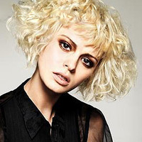"""14""""? Short Curly Layered Synthetic Wigs for Women Blonde"""