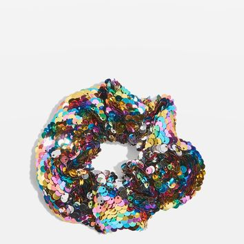 Large Sequin Scrunchie | Topshop