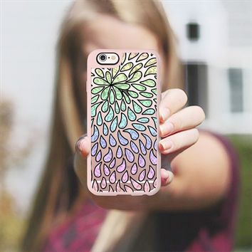 Pearlised Drops - Rainbow iPhone 6s case by Alice Gosling | Casetify