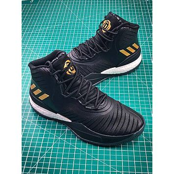 Adidas D Rose 8 Black Gold Boost Basketball Shoes